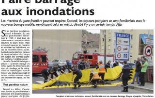 article sur le barrage anti inondation Water-Gate dans le républicain lorrain