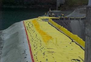 barrage anti inondation water-gate de 2 mètres de hauteur de retenue d'eau