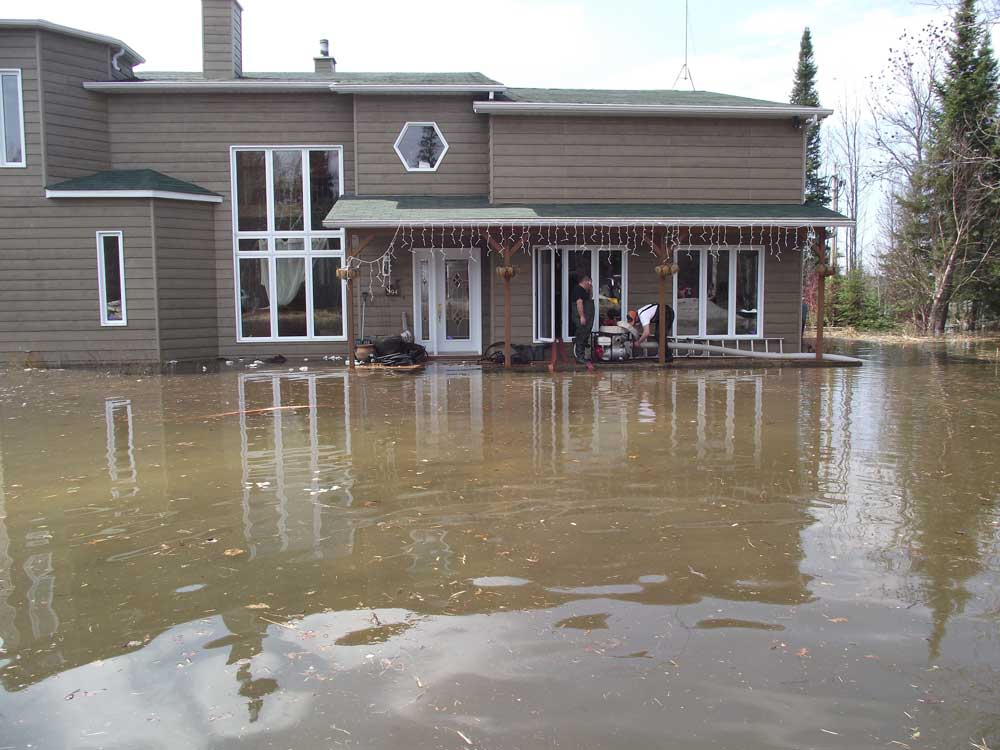 Complete flood protection of a house canada 2010 for What does maison mean in english