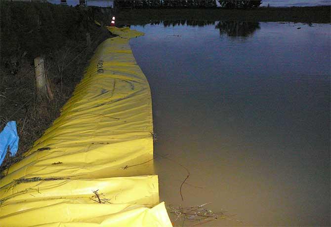 barrage anti inondation water-gate protège un quartier