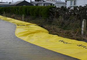 protection anti inondation d'une ville en Nouvelle Zélande