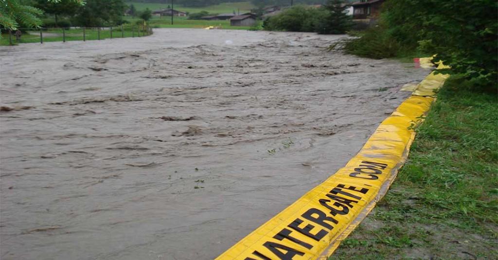 protection inondation contre coulées de boues de maisons avec water-gate