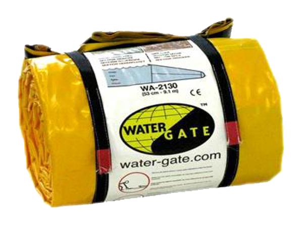 Barrage souple autobloquant Water-Gate conditionné en rouleau unitaire