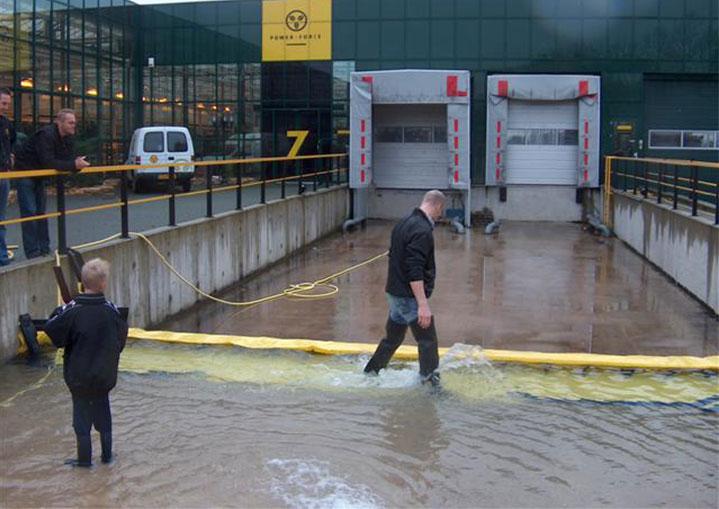 bescherming tegen overstromingen een laadperron
