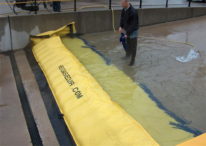 flood protection at a loading dock of a factory