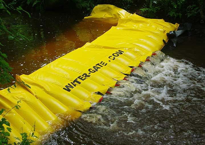Diga di ritenzione inquinante per i fiumi