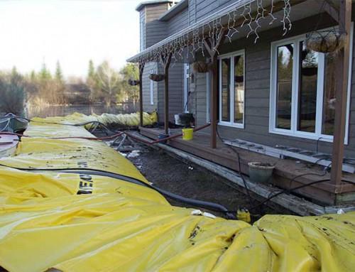 Vald'Or I Québec Maison en cours d'inondation