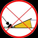 Ne pas colmater les fuites par l'arrière du barrage anti inondation