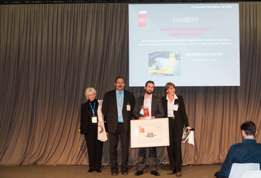 le barrage anti inondation water-gate reçoit le prix de l'innovation du salon des maires
