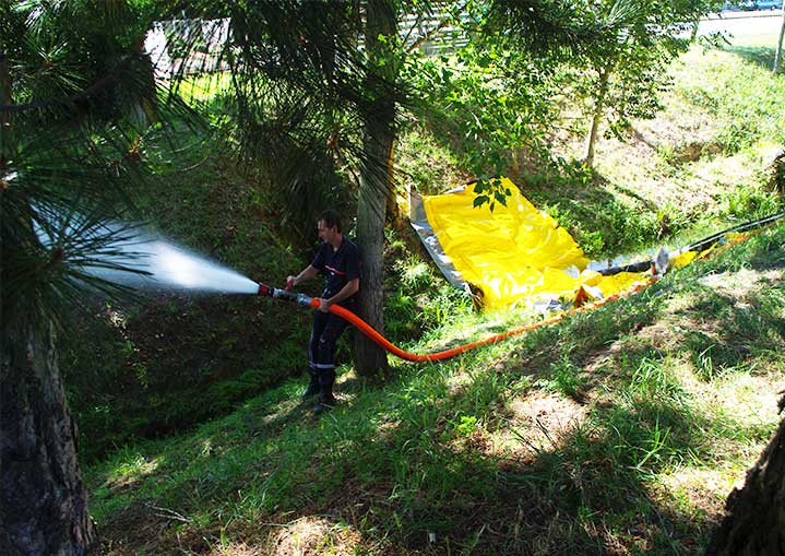 increase the possible water supply for firefighting with the watergate barrier