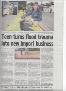 Un article sur le barrage Water-Gate dans la presse britannique