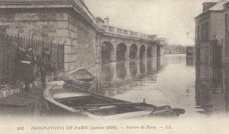 Paris overstroomd in 1910