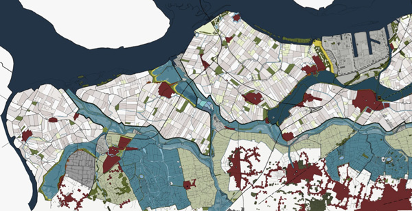 flooded area map Nederland