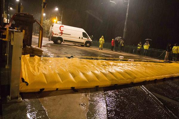 overflow flood protection on bridge
