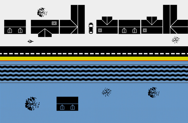 protection inondation quartier - rive