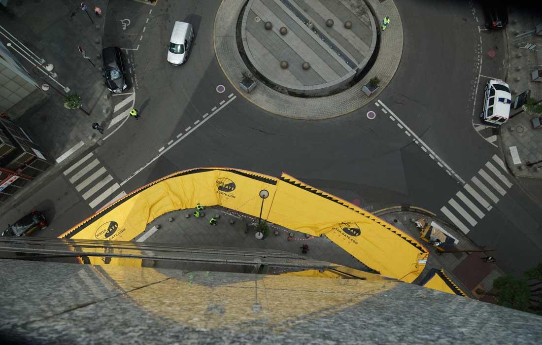 Hochwasserschutz runden Punkt Kreuzungen