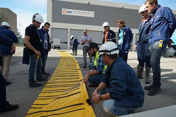 formation du personnel EDF à la protection inondation