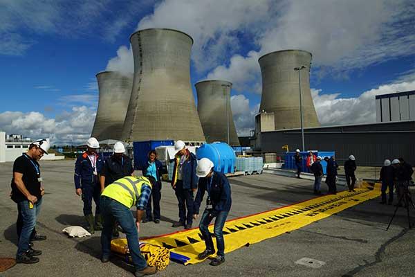 Protection d'une centrale nucléaire contre une crue centennale