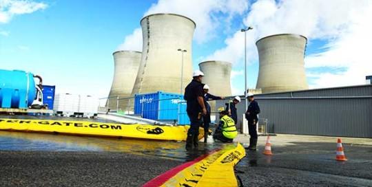 protection inondation d'une centrale nucléaire megasecur europe