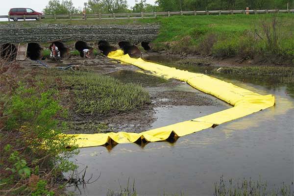 Batardeau en U - Zone chantier - Vue depuis l'amont