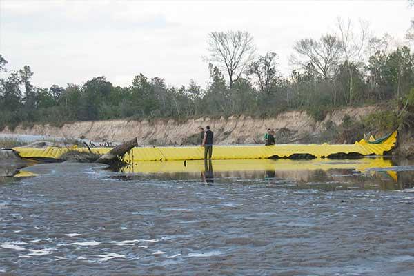 batardeau pour assèchement complet de rivière
