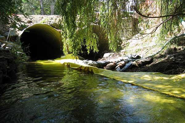 batardeau isolation usage rivière