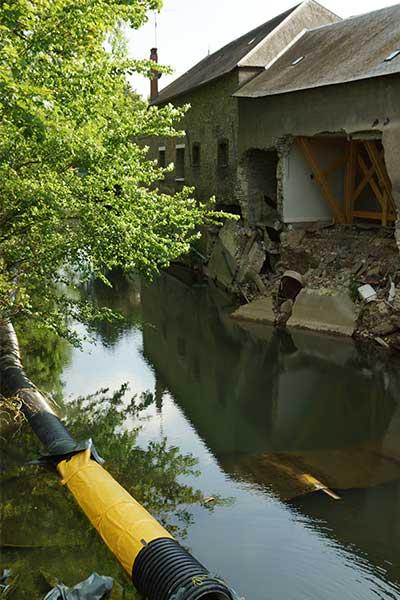 batardeaux pour travaux après inondation