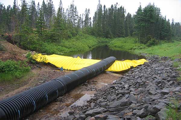 batardeaux canalisation tuyau annelé