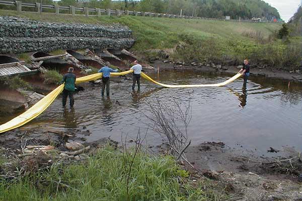 batardeau installation pour entretien de berges