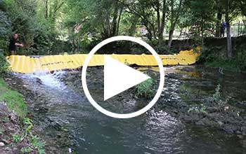kofferdamm Video Fluss
