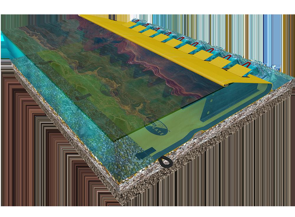 barrage anti pollution en rivière 3D