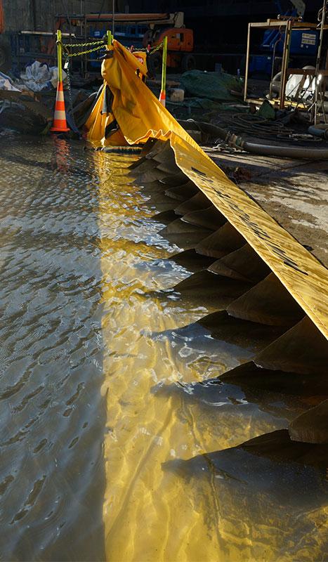 Barrière de confinement d'urgence Water-Gate© - Dérivation des eaux polluées pour retraitement