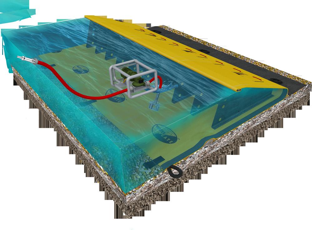 principe du barrage water-gate pour deci - defense extérieure contre l'incendie