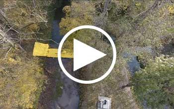 Batardeau rivière en vidéo