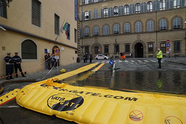 Exercice anti inondation Water-Gate Via dei Renai