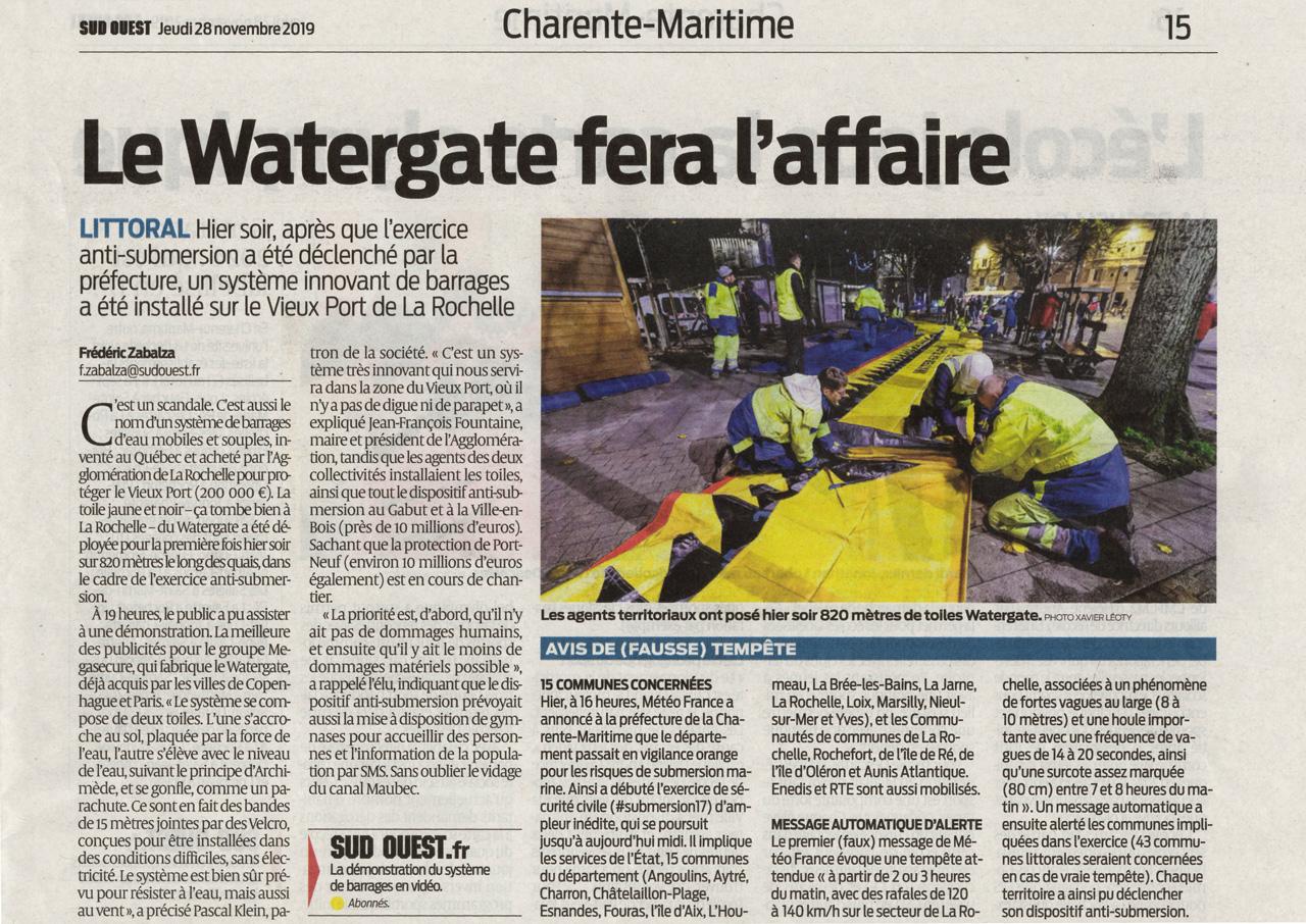 article La rochelle inondation journal sud-ouest