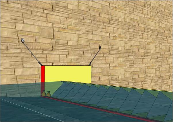 Barrage amovible anti-inondation souple. Pose en tableau contre un mur