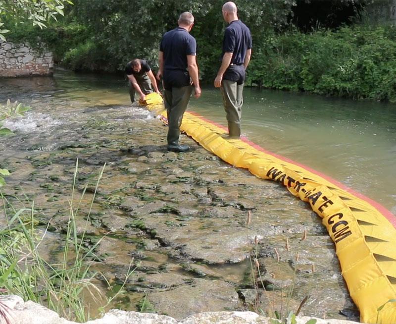 Batardeaux Comment assécher un seuil de rivière en 3 minutes!