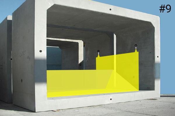 Batardeaux souples Water-Gate©. Schéma d'une installation dans un ponceau béton | Cas #9